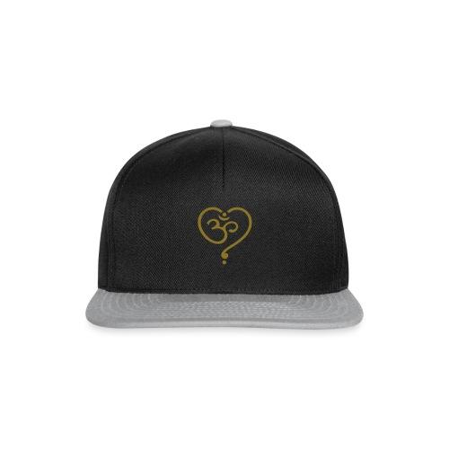 OM Symbol Herz Yoga Liebe Spiritualität Meditation - Snapback Cap