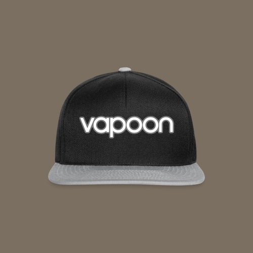Vapoon Logo simpel 2 Farb - Snapback Cap