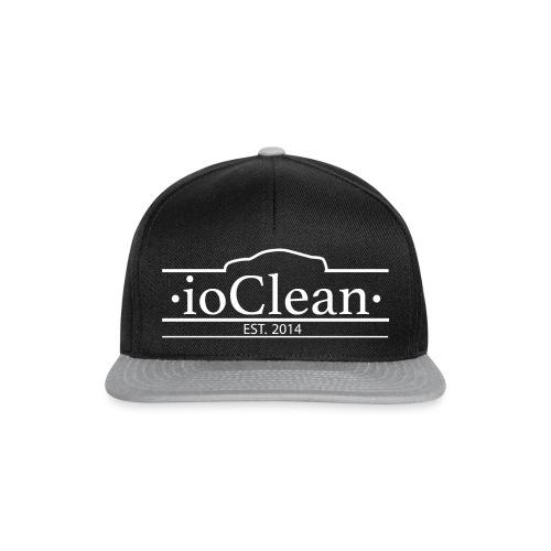 ioClean white logo - Snapback Cap