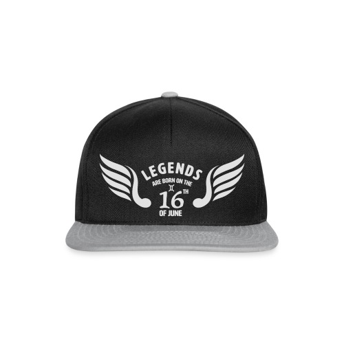 Legends are born on the 16th of june - Snapback cap