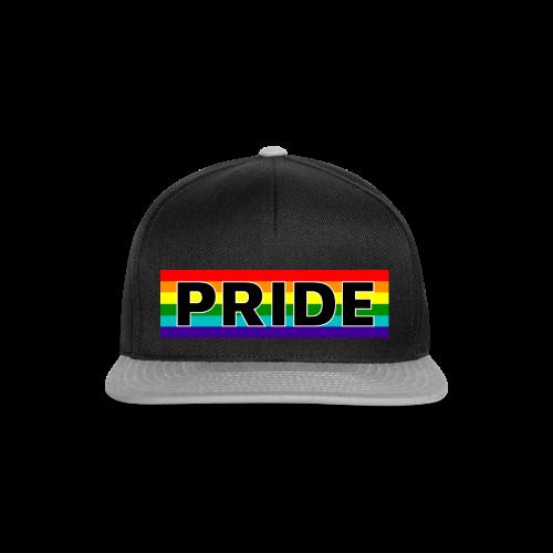 Gay pride rainbow vlag met de tekst Pride - Snapback cap