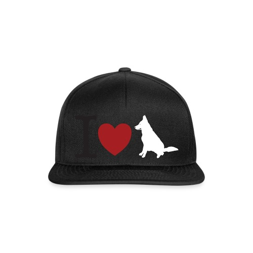 I LOVE White Dog - Czapka typu snapback
