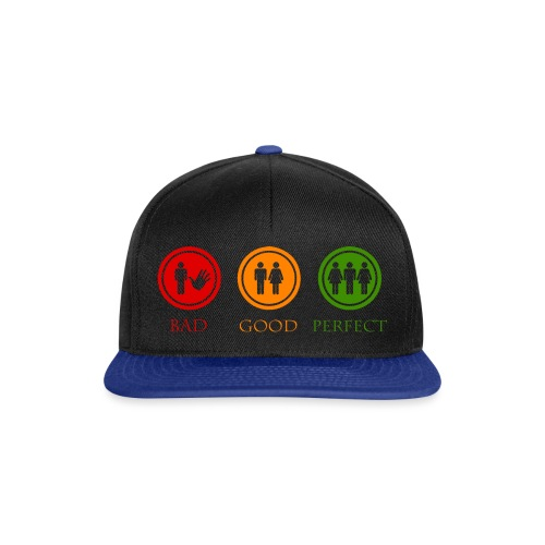 Bad good perfect - Threesome (adult humor) - Snapback cap