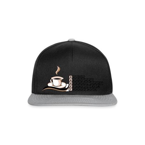 Kahvi-ristikko - Snapback Cap