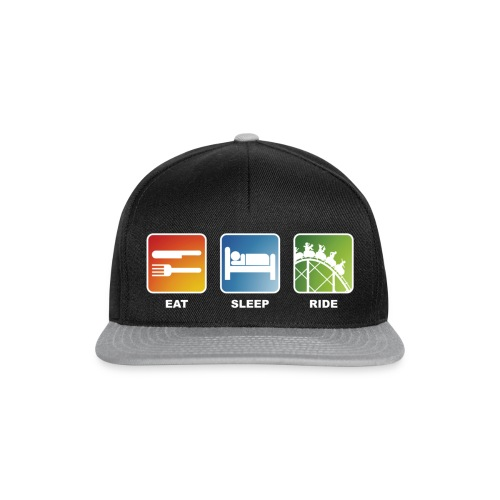 Eat, Sleep, Ride! - T-Shirt Schwarz - Snapback Cap