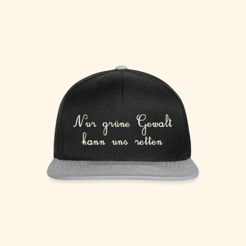 GRUENE GEWALT - Snapback Cap