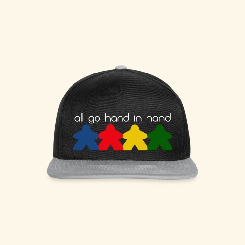 Meeples all go hand in hand - Snapback Cap