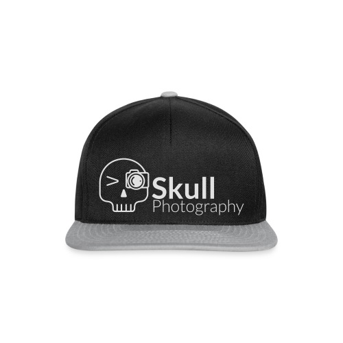 Skull Photography Weisses Logo - Snapback Cap
