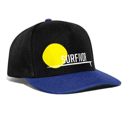 Surfivor surf logo met zon - Snapback cap