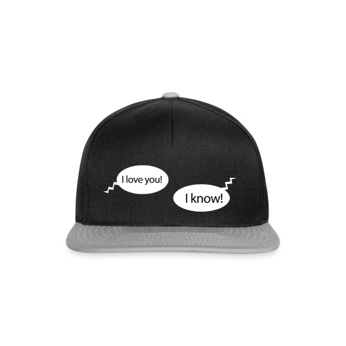 I love you - I know - Snapback-caps