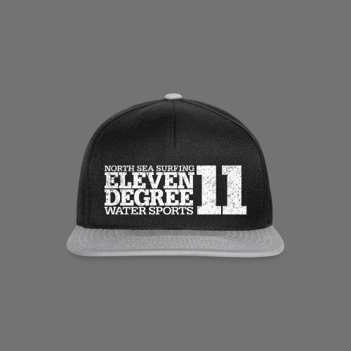 eleven degree white (oldstyle) - Snapback Cap