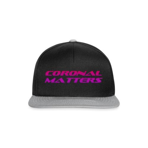 Coronal Matters logo - Snapback Cap