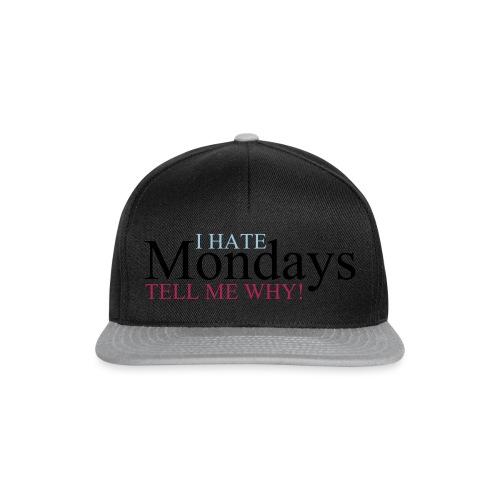 I_hate_mondays-ai - Snapback Cap