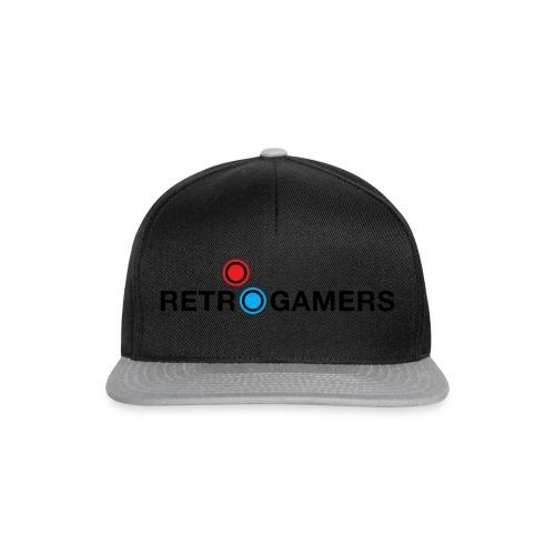 Logo Retrogamers Negro - Gorra Snapback