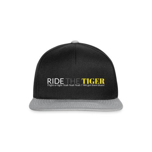 Logo Ride the tiger white-grey-yellow - Casquette snapback