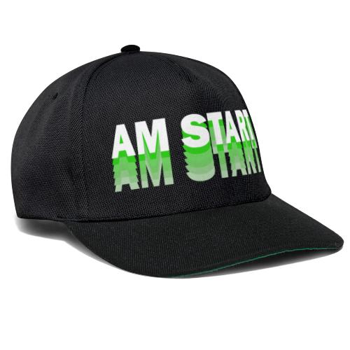 am Start - grün weiß faded - Snapback Cap