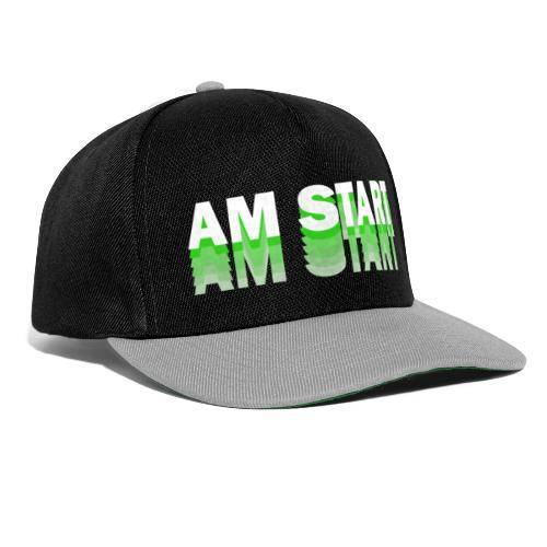 am Start - grün weiß faded - Snapback Cap