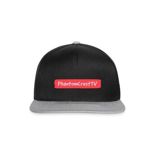 PhantomCresTV Brush Style Logo - Snapback Cap