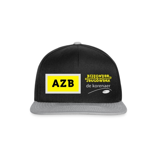 AZB Shirt Zwart Wit geel - Snapback cap