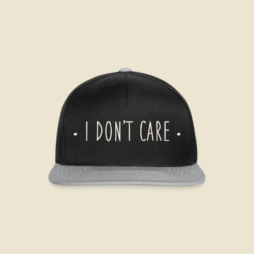 I don't care - Casquette snapback