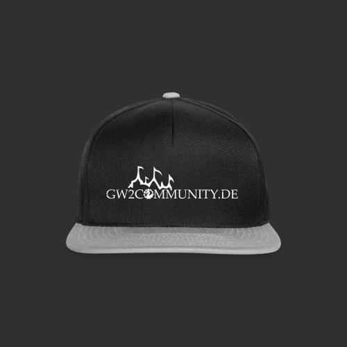 gw2community logo weiss - Snapback Cap