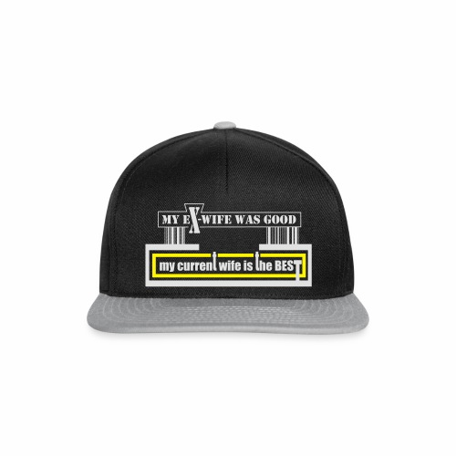 my current wife is the best by Claudia-Moda - Gorra Snapback