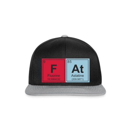 Geeky Fat Periodic Elements - Snapback Cap