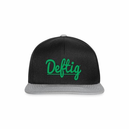 Deftig_underline_green - Snapback cap