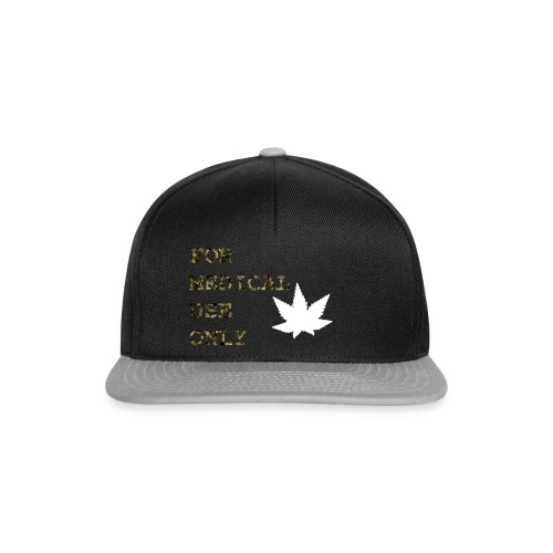 For Medical Use Only White - Snapback Cap
