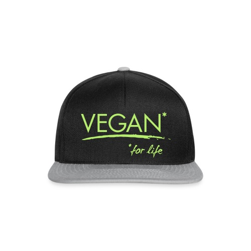 vegan for life 1c - Snapback Cap