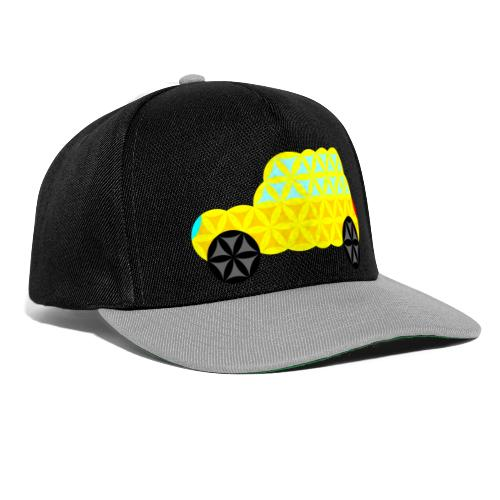 The Car Of Life - 02, Sacred Shapes, Yellow. - Snapback Cap