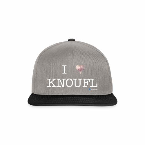 i love knoufl white - Snapback Cap