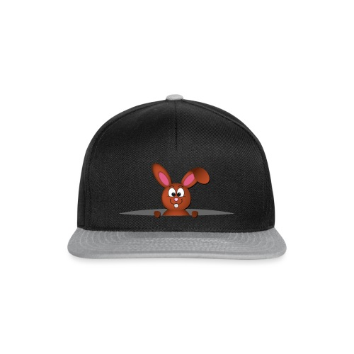 Cute bunny in the pocket - Snapback Cap
