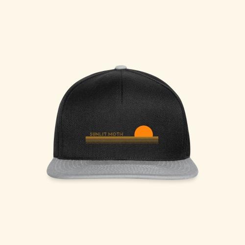 sunlit moth sunset logo - Snapback Cap