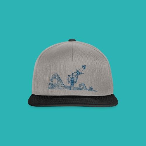 Carta_timone_blu-png - Snapback Cap