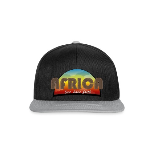 Africa_love_hope_and_faith2 - Snapback Cap