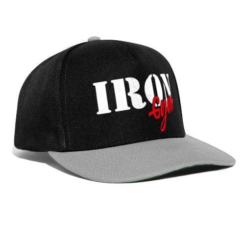 iron gym logo white - Gorra Snapback