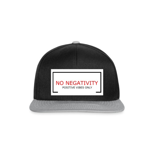 NO NEGATIVITY - Snapbackkeps