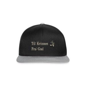 Til kvinnen fra gud, gull no border, sort hettegen - Snapback-caps