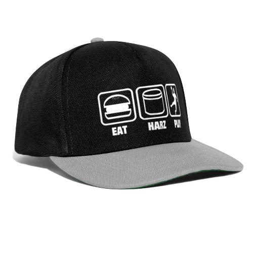 Eat Harz Play white - Snapback Cap
