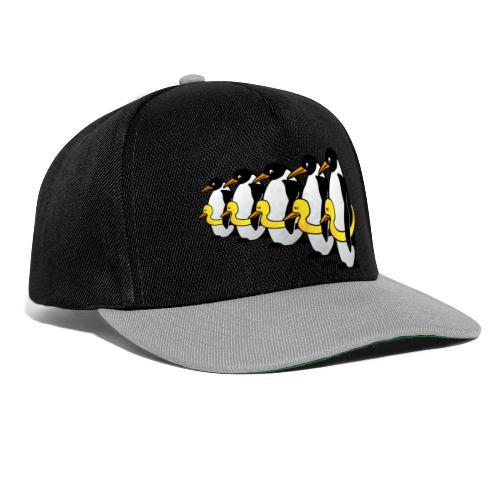 Pinguine mit Quietscheentchen - Snapback Cap