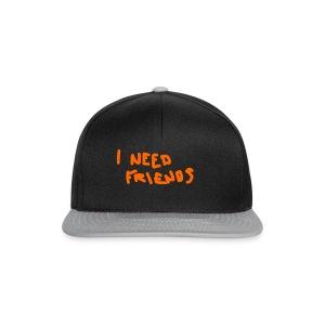 I_NEED_FRIENDS - Snapback Cap