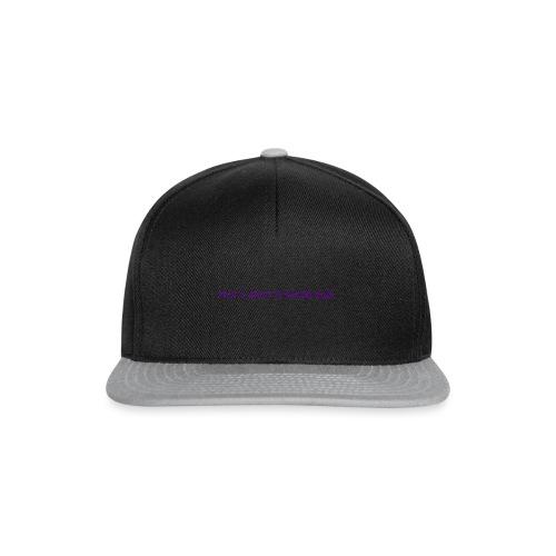 kinda bad t-shirt - Snapback Cap