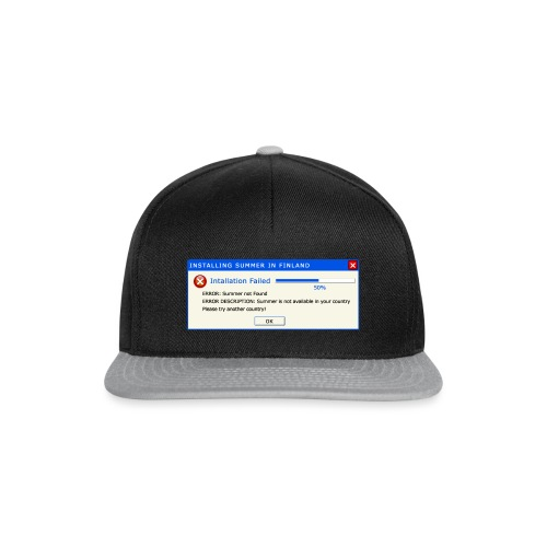 Summer Error Message - Snapback Cap