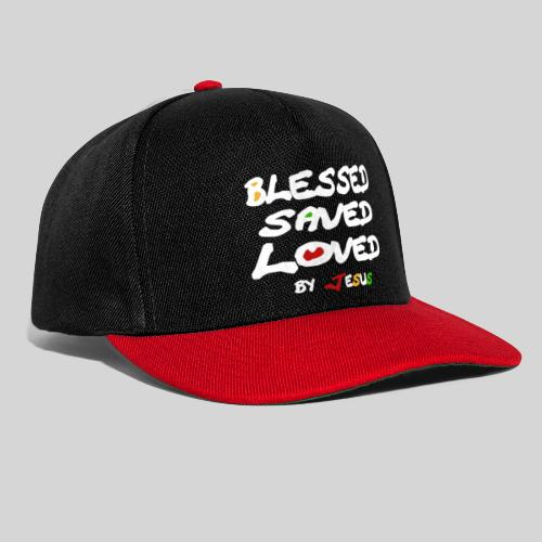 Blessed Saved Loved by Jesus - Snapback Cap
