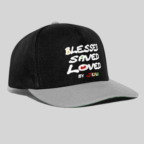 Blessed Saved Loved by Jesus - Snapback Cap
