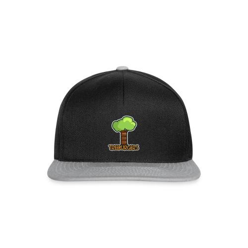 Treeburgers logo with text - Snapback Cap