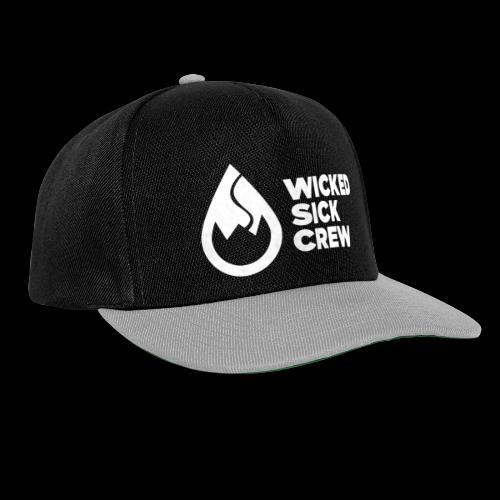 Wicked Sick Crew Logo weiß - Snapback Cap