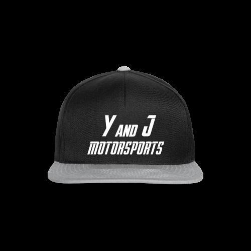 Y and J Motorsports Logo Weiß - Snapback Cap