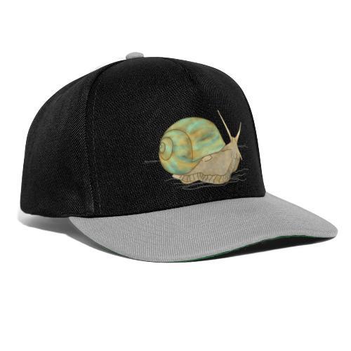 Schnecke, Weinbergschnecke - Snapback Cap